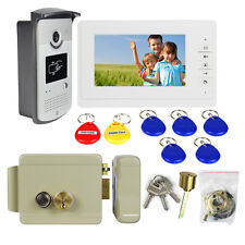 Wired Video Door Phone Intercom Entry System Monitor IR Camera+Electric Lock CO