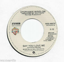 STEPHANIE WINSLOW 45 * Crying * 1980 #14 * UNPLAYED MINT * Roy Orbison song