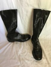 GUIDI 411 Horse Leather Boots in Two Tones Black/Green, Silver Zips, 38 / US 8