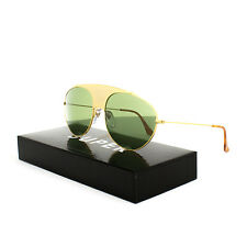 RETROSUPERFUTURE Super Leon Notorious Sunglasses 70T Gold / Green Barberini Lens