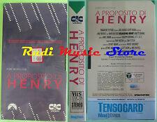 film VHS cartonata A PROPOSITO DI HENRY Mike Nicholas SIGILLATA (F87) no dvd