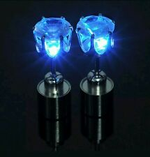 LED Light Earrings Stud Pierce Party Fashion Style Rave Accessory Gift Present