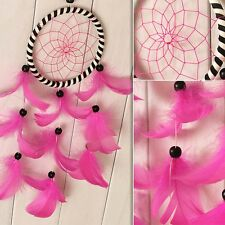 India Style Pink Dream Catcher With feathers Car Hanging Decoration Decor Crafts