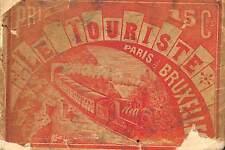 CHEMIN DE FER PARIS BRUXELLES EDITIONS LE TOURISTE PLAN VERS 1900