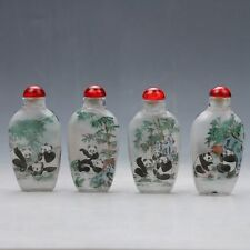 China Glass Hand-carved Panda Snuff Bottles  Z689