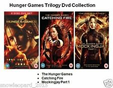 HUNGER GAMES TRILOGY DVD TRIPLE PACK PART 1 2 3 CATCHING FIRE MOCKING JAY New UK