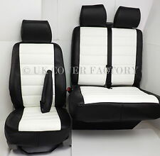 VW Transporter T5 Van Seat Covers- White uilted  Leather 120WTBK IN STOCK!!!!!
