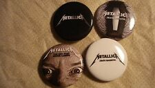 """METALLICA Buttons """"Death Magnetic & Day that Never Comes"""" 4 Rare Hard to Find"""