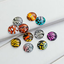 Glass Cabochons Round Cabochons 12mm Cabochons Flat Backs Flatbacks Butterfly