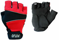 RED GEL PADDED CYLING / CYCLE / MTB BMX HYBRID ROAD RACER BIKE BICYCLE GLOVES