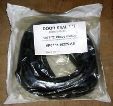 Molded Door Weatherstrip Seals 1967 1968 1969 1970 1972 Chevy GMC Pickup Truck