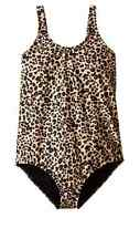2016 NWT GIRLS BILLABONG PURTY WILD ONE PIECE SWIMSUIT $55 size 10 multi leopard