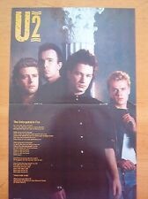 U2 Unforgettable Fire lyrics Centerfold magazine POSTER  17x11""