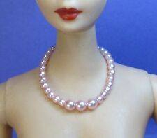 Dreamz LIGHT PINK Vintage Barbie Graduated Pearl Necklace REPRO Doll Jewelry