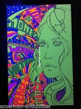 American Woman Nixon Vietnam War Psychedelic Art Blacklight Poster Woodstock