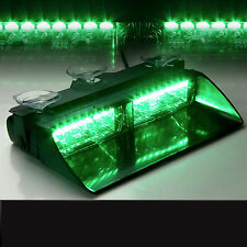Green 16LED Car Police Windshield Warning Emergency Flashing Dash Strobe Light