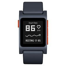 Pebble 2 + Heart Rate Smart Watch- Black/Flame New