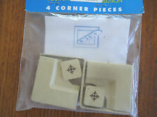 SHADE CLOTH CORNER FIXING PIECES SHADEFIX PACK OF 4 CORNERS BEIGE FREE POST