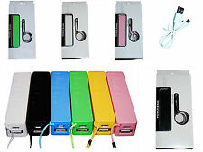 2600 mAh Power Bank Portable External Battery Charger Works With Any Cell Phone
