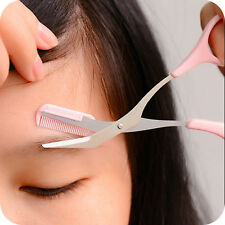 Makeup Tools Women Eyebrow Trimmer Comb Eyelash Hair Scissors Cutter Remover