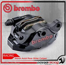 Pinza posteriore Brembo Racing P2 34mm nichelata nera con pastiglie per Ducati