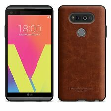 LG V20 Case Leather Bumper Shock Resistant Slim Flexible AntiScratch Brown New