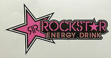 ROCKSTAR ENERGY DRINK PINK STICKER DECAL CAR BIKE 220mmx115mm FREE POSTAGE!