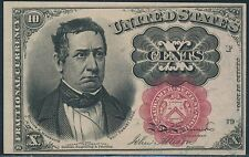 Fr1266 10¢ 5Th Issue Fractional With Red Seal Thick Key Very Choice Cu Br3275