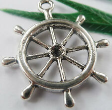 Wholesale free ship 100pcs tibet silver steering wheel charms 29x23mm