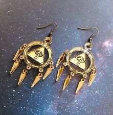 Yu-Gi-Oh Millennium Ring Earrings Gold Cosplay Lightweight Hypoallergenic