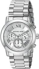 Michael Kors Cooper Chronograph Silver Dial Silver-tone Ladies Watch MK6273