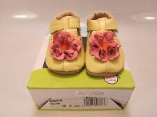 LIVIE & LUCA Infant BLOSSOM Yellow Leather Crib Shoes 12-18 Months (1303115)