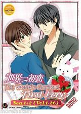 DVD The World's Greatest First Love Season 1 + 2 + Movie (Sekai Ichi Hatsukoi)