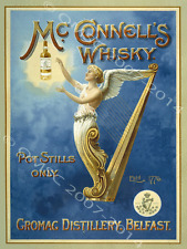 McConnells Irish Whiskey Metal Sign, Art Deco, Retro Bar, Pub,Den Decor, Alcohol