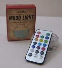 NIB Color Change Underwater Mood Glow Light Remote Battery Restoration Hardware