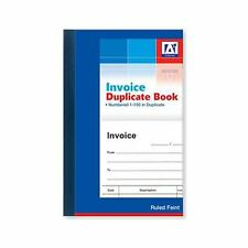 Duplicate Invoice Book Numbered Pages 1-80 With 2 Sheets Carbon Paper Reciept