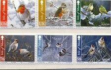 Isle of Man Birds in Winter set of 6 mnh (2011)