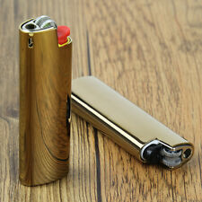 2PCS bright golden BIC lighter's case holder for BIC J3 not contain lighters