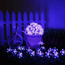 21 Ft 50 LED Solar String Blossom Purple Lights Garden Party Wedding decorations