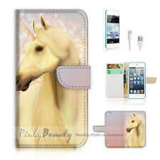 iPod Touch 5 iTouch 5 Flip Wallet Case Cover! P0640 Unicorn