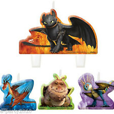 HOW TO TRAIN YOUR DRAGON 2 MINI CANDLE SET (4) ~ Birthday Party Supplies Cake
