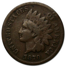 1870 SHALLOW 'N' One Cent Indian Head Penny Coin Lot# A 1079