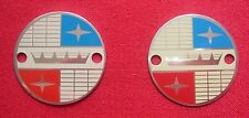 Lambretta or Vespa bumper crash bar badge motif super vigano ulma 35mm x 2