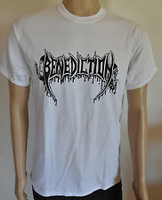 BENEDICTION Logo white T-Shirt XL / Extra-Large (u469) 161663