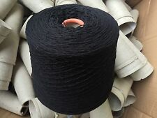 100% Lambswool Yarn Black 1150g Cone.4plyHand/machine Knit. UK Spun.SALE£5 Off
