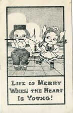 CARTE POSTALE / POSTCARD USA / FANTAISIE / LIFE IS MARRY WHEN THEHEART IS YOUNG