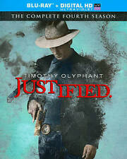 Justified: Complete Fourth Season (Blu-ray, 2013, 3-Disc Digital copy & slip NEW