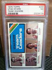 1975 Topps # 286 Utah Stars Team Leaders PSA NM-7.....MOSES MALONE---B-4108