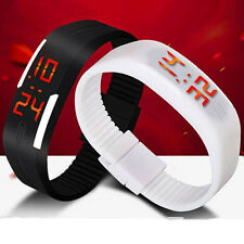 UNISEX SILICONE RUBBER JELLY WRIST WATCH WITH DATE FOR GIRLS BOYS KIDS NEW GIFTS