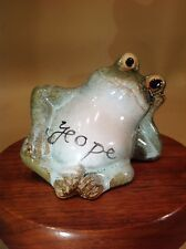 "Unique Biblical Fired Clay ""yeope"" Frog Meaning Solid Hope Heb. 6:18, Num. 22:19"